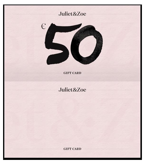 Virtual Gift Card | Juliet & Zoe
